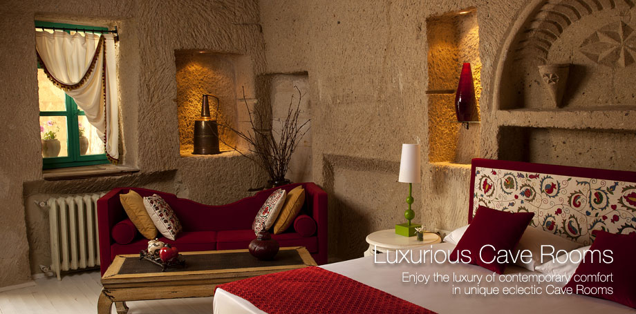 Cave hotel in cappadocia turkey best cave hotel hezen cave hotel - Beautiful snooze bedroom suites packing comfort in style ...