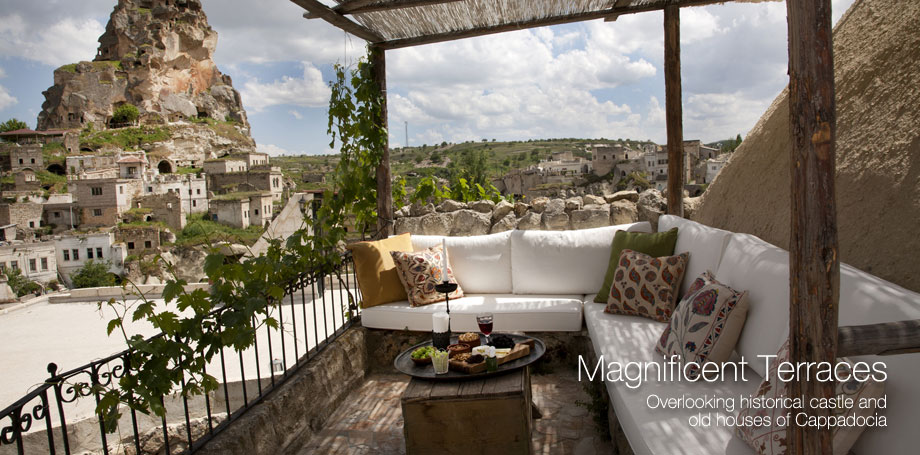 Özel Kapadokya manzarası