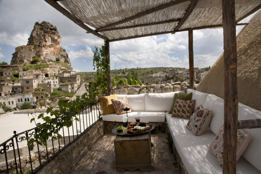 Private terrace overlooking the old town