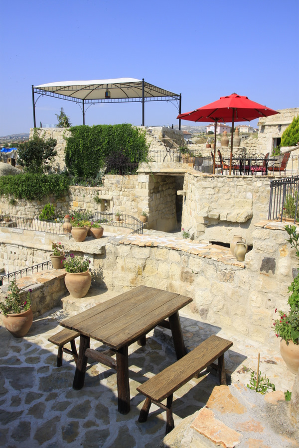 Outdoor terraces and sitting areas